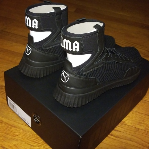 new products aa54d fec9e Rihanna Fenty Puma Black Mid Trainer NWT Sneakers NWT